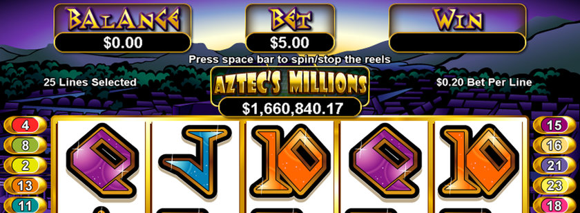 Aztec's Millions Mobile Slots Game