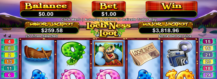 Loch Ness Loot Mobile Slot Game