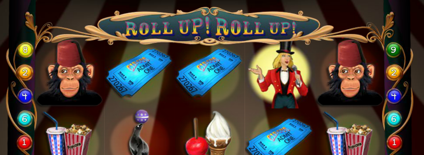 Roll Up! Roll Up! Mobile Slot Game